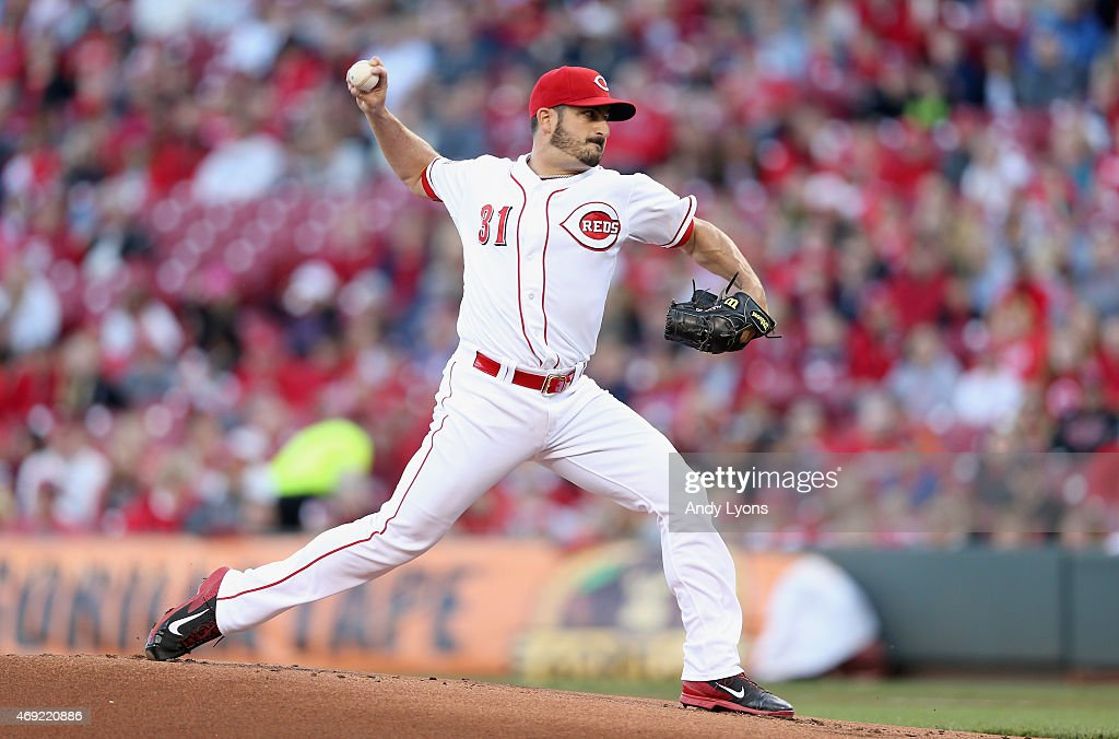 <a gi-track='captionPersonalityLinkClicked' href=/galleries/search?phrase=Jason+Marquis&family=editorial&specificpeople=210770 ng-click='$event.stopPropagation()'>Jason Marquis</a> #31 of the Cincinnati Reds throws a pitch against the St. Louis Cardinals in the game at Great American Ball Park on April 10, 2015 in Cincinnati, Ohio.