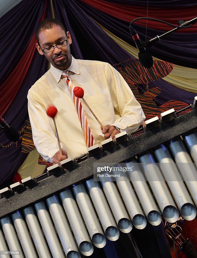 Jason Marsalis performs during the 2013 New Orleans Jazz & Heritage Music Festival at Fair Grounds Race Course on April 27, 2013 in New Orleans, Louisiana.