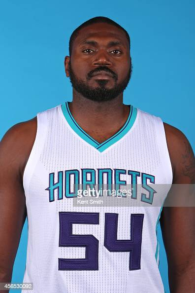 Jason Maxiell of the Charlotte Hornets poses for a portrait during 2014 NBA Media Day on September 29 2014 at Charlotte North Carolina NOTE TO USER...