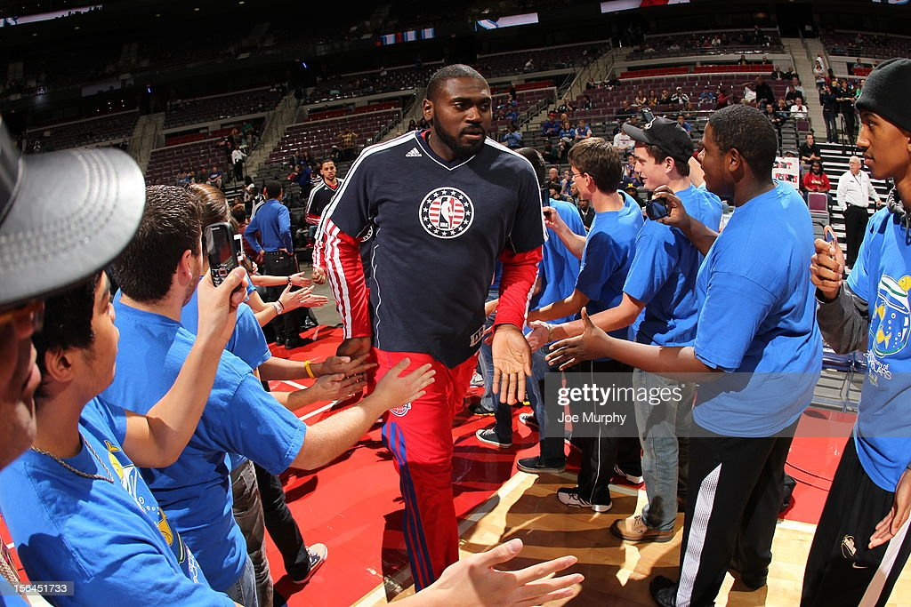 <a gi-track='captionPersonalityLinkClicked' href=/galleries/search?phrase=Jason+Maxiell&family=editorial&specificpeople=651723 ng-click='$event.stopPropagation()'>Jason Maxiell</a> #54 of the Detroit Pistons announced before the game against the Oklahoma City Thunder on November 12, 2012 at The Palace of Auburn Hills in Auburn Hills, Michigan.