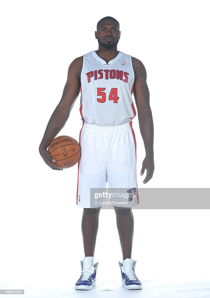Jason Maxiell of the Detroit Pistons poses during media day at the Piston's practice site on September 27 2010 in Auburn Hills Michigan NOTE TO USER...