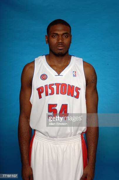 Jason Maxiell of the Detroit Pistons poses for a portrait during NBA Media Day at the Pistons Practice Facility on October 1 2007 in Auburn Hills MI...