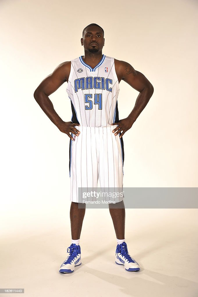 Jason Maxiell of the Orlando Magic poses for a portrait during media day on September 30 2013 at Amway Center in Orlando Florida NOTE TO USER User...