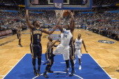 Jason Maxiell of the Orlando Magic rebounds against the Indiana Pacers on April 16 2014 at Amway Center in Orlando Florida NOTE TO USER User...