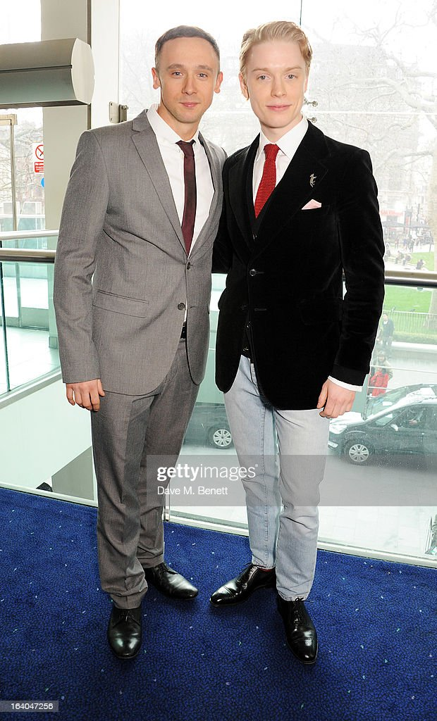 Jason Maza (L) and Freddie Fox attend the First Light Awards at Odeon Leicester Square on March 19, 2013 in London, England.