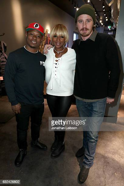 Jason Mitchell Mary J Blige and Garrett Hedlund attend the Creators League Studio at 2017 Sundance Film Festival Day 4 on January 22 2017 in Park...