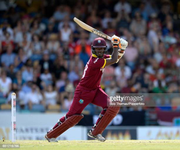 Jason Mohammed batting for the West Indies during the 3rd One Day International between the West Indies and England at Kensington Oval on March 9...