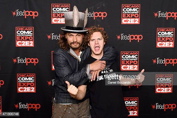 Jason Momoa and Finn Jones attend C2E2 Chicago Comics and Entertainment Expo at McCormick Place on April 26 2015 in Chicago Illinois