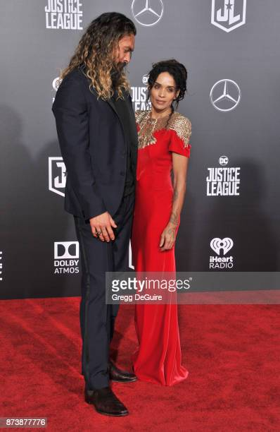 Jason Momoa and Lisa Bonet arrive at the premiere of Warner Bros Pictures' 'Justice League' at Dolby Theatre on November 13 2017 in Hollywood...