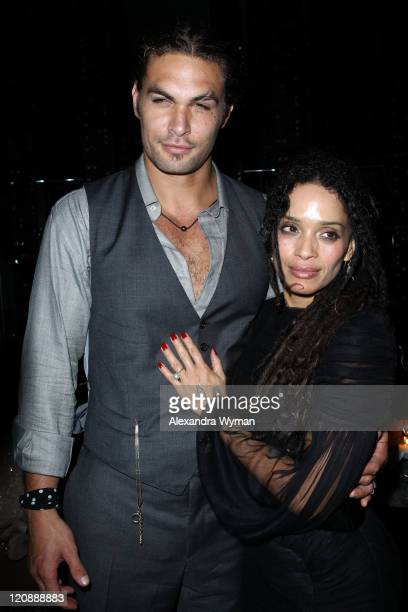 Jason Momoa and Lisa Bonet at The Conan The Barbarian World Premiere After Party held at The Ritz Carlton on August 11 2011 in Los Angeles California