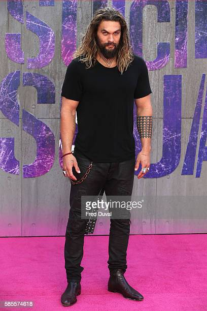 Jason Momoa attends the European Premiere of 'Suicide Squad' at Odeon Leicester Square on August 3 2016 in London England