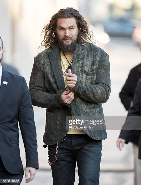 Jason Momoa is seen at 'Jimmy Kimmel Live' on January 26 2017 in Los Angeles California