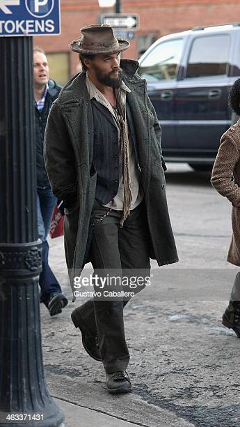 Jason Momoa is seen at the 2014 Sundance Film Festival on January 17 2014 on the streets of Park City Utah