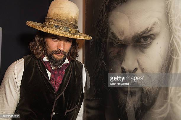 Jason Momoa of 'The Red Road' attends the Sundance TV Channel party during the 2015 Sundance Film Festival on January 25 2015 in Park City Utah