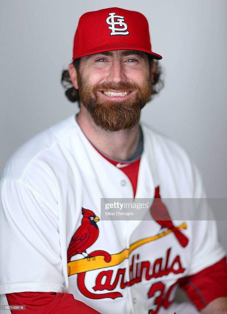 Jason Motte #30 of the St. Louis Cardinals poses during photo day at Roger Dean Stadium on February 19, 2013 in Jupiter, Florida.