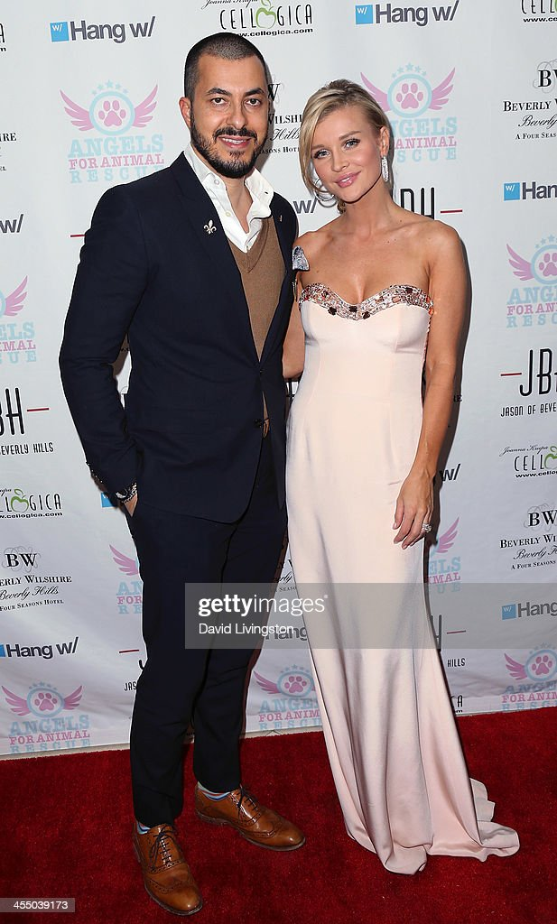 Jason of Beverly Hills CEO Jason Arasheben (L) and TV personality Joanna Krupa attend the Angels for Animal Rescue Benefit hosted by Joanna Krupa at the Beverly Wilshire Four Seasons Hotel on December 10, 2013 in Beverly Hills, California.