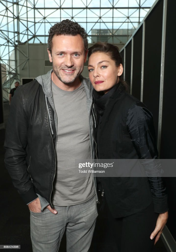 Jason O'Mara (L) and Alexa Davalos attend 'The World of Philip K. Dick' - The Man in the High Castle and Philip K. Dick's Electric Dreams Press Room at The Jacob K. Javits Convention Center on October 6, 2017 in New York City.