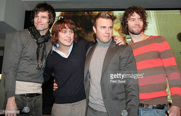 Jason Orange Mark Owen Gary Barlow and Howard Donald of Take That
