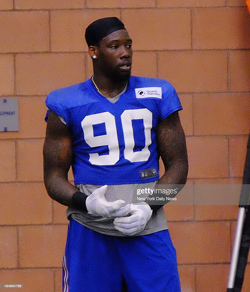 Jason Pierre Paul at Giants practice