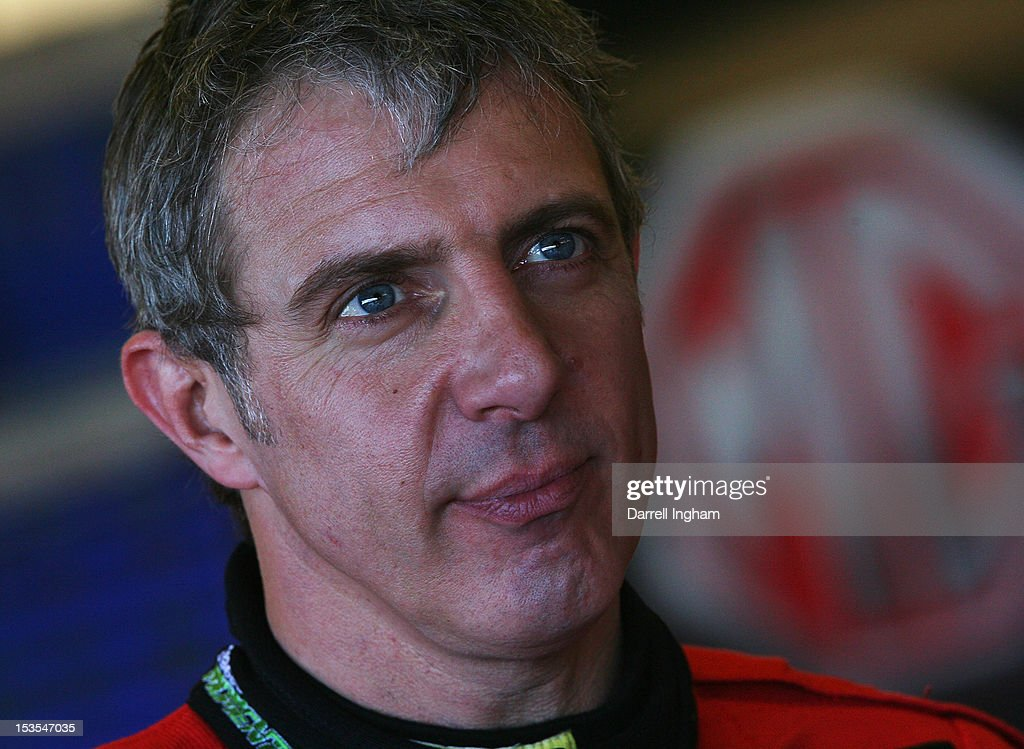 Jason Plato of Great Britain, driver of the #99 MG KX Momentum Racing MG6 during practice for the Dunlop MSA British Touring Car Championship race at the Silverstone Circuit on October 6, 2012 in Towcester, United Kingdom.