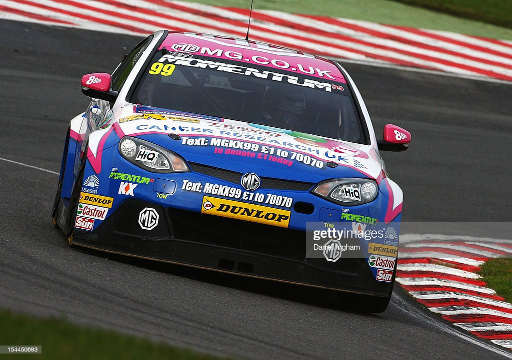 Jason Plato of Great Britain drives the #99 MG KX Momentum Racing MG6 during practice for the Dunlop MSA British Touring Car Championship race at the Brands Hatch Circuit on October 20, 2012 near Longfield, United Kingdom.