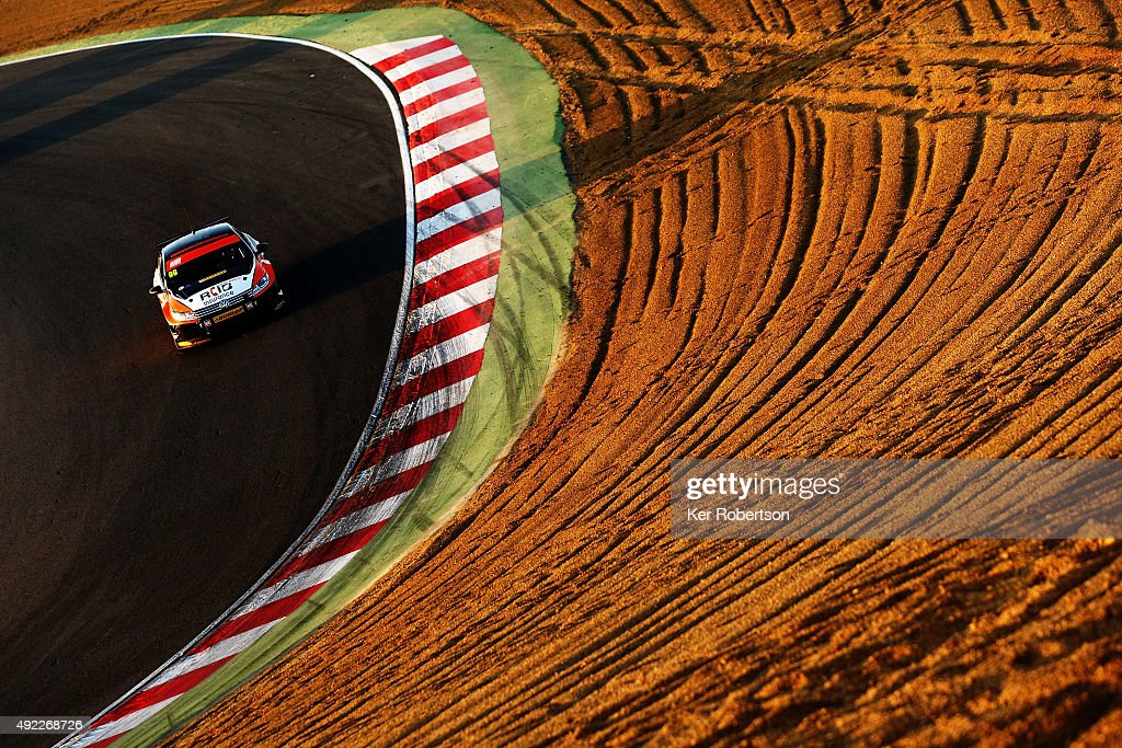 Jason Plato of Team BMR drives during Race Three of the Final Round of the Dunlop MSA British Touring Car Championship at Brands Hatch on October 11, 2015 in Longfield, England.