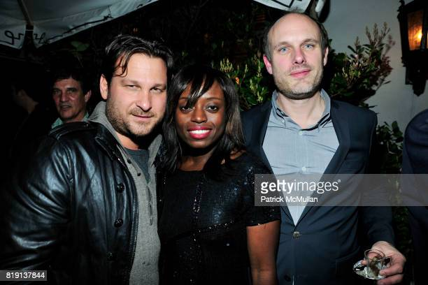 Jason Pomeranc Bee Poku Degen Pener attend NICOLAS BERGGRUEN's 2010 Annual Party at the Chateau Marmont on March 3 2010 in West Hollywood California