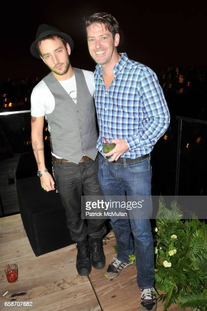Jason Preston and Eddie Roche attend RICHIE RICH Hosts CHRIS COFFEE's Birthday Party at the GARDEN IN THE SKY at Cooper Square Hotel Penthouse on...