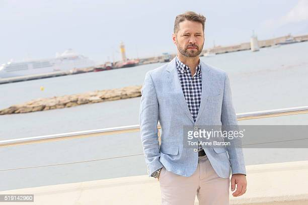 Jason Priestley attends 'Private Eyes' Photocall on April 4 2016 in Cannes France