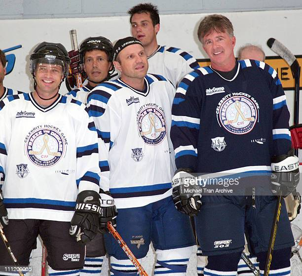 Jason Priestley Enrico Colantoni and Alan Thicke during 'Freeze The Disease' Pro/Celebrity Hockey Game to Benefit Cystic Fibrosis Research at Ice...