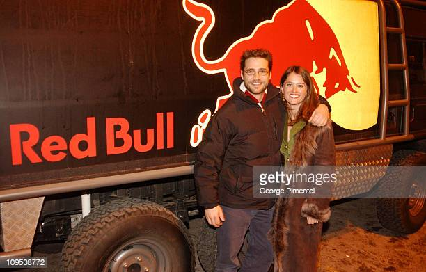 Jason Priestley Robin Tunney and The Red Bull Truck