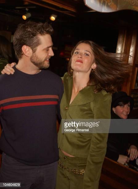 Jason Priestley Robin Tunney during 2002 Sundance Film Festival 'Cherish' Party at Cisero's Restaurant in Park City Utah United States