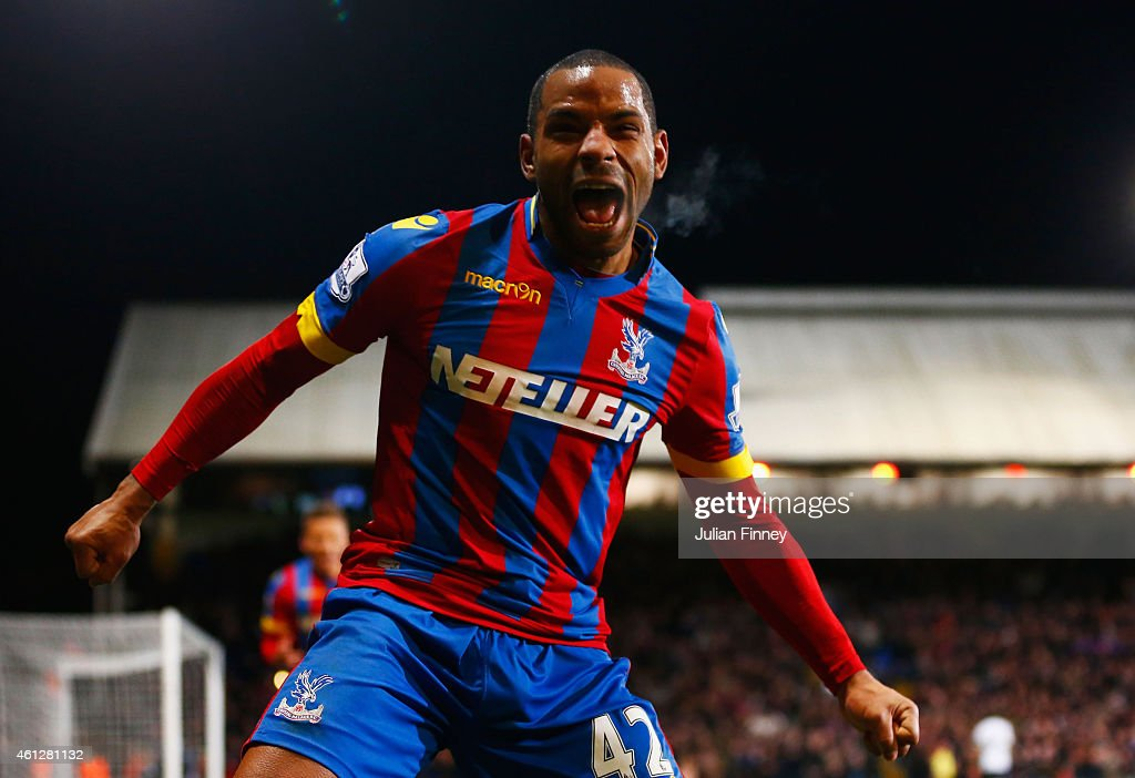 <a gi-track='captionPersonalityLinkClicked' href=/galleries/search?phrase=Jason+Puncheon&family=editorial&specificpeople=747694 ng-click='$event.stopPropagation()'>Jason Puncheon</a> of Crystal Palace celebrates as he scores their second goal during the Barclays Premier League match between Crystal Palace and Tottenham Hotspur at Selhurst Park on January 10, 2015 in London, England.