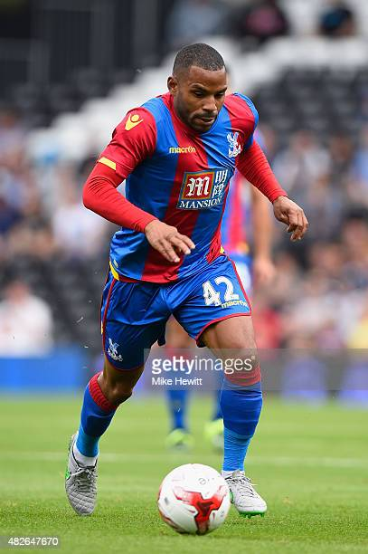 Jason Puncheon of Crystal Palace in action during a Pre Season Friendly between Fulham and Crystal Palace at Craven Cottage on August 1 2015 in...
