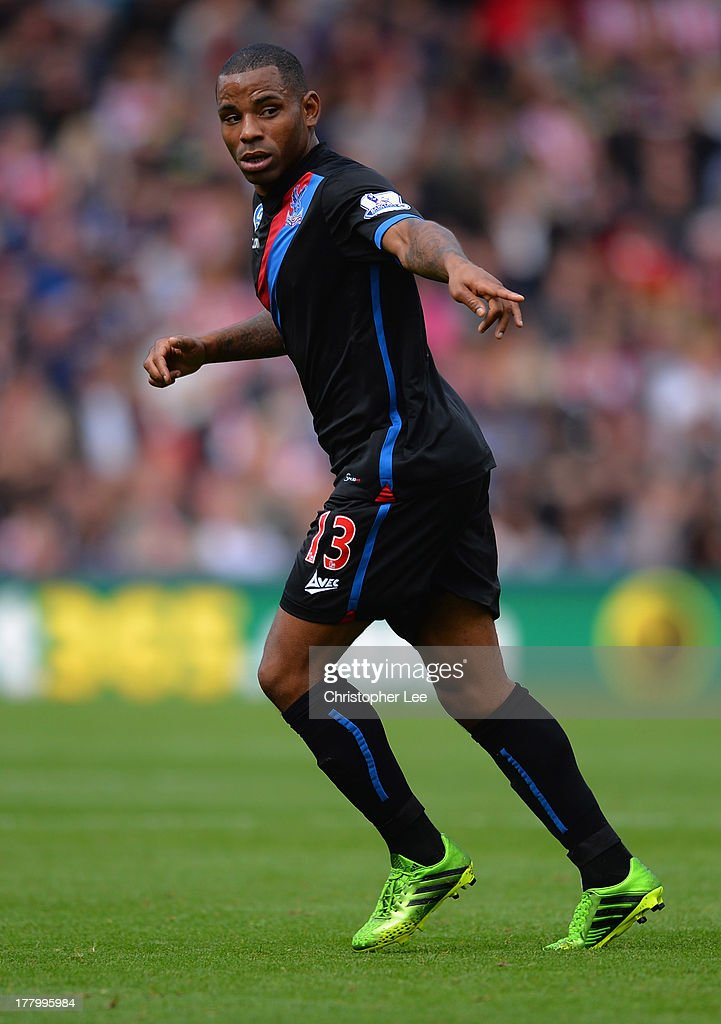 Jason Puncheon of Crystal Palace in action during the Barclays Premier League match between Stoke City and Crystal Palace at Britannia Stadium on August 24, 2013 in Stoke on Trent, England.