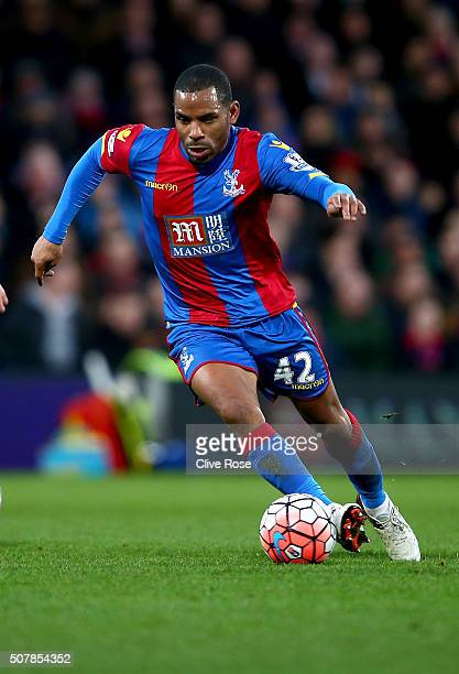 Jason Puncheon of Crystal Palace in action during The Emirates FA Cup fourth round match between Crystal Palace and Stoke City at Selhurst Park on...