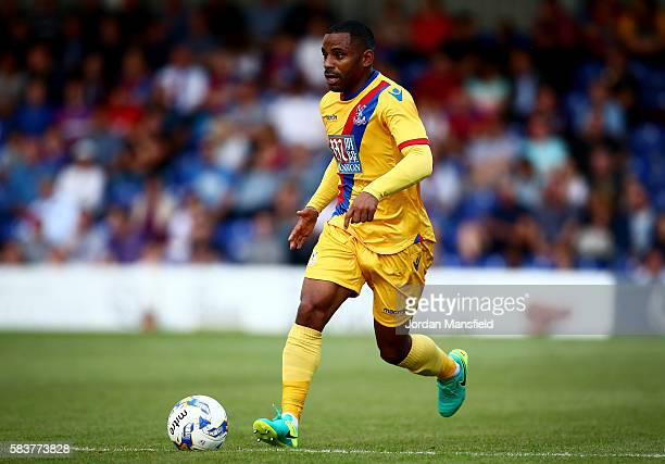 Jason Puncheon of Crystal Palace in action during the preseason friendly between AFC Wimbledon and Crystal Palace at The Cherry Red Records Stadium...