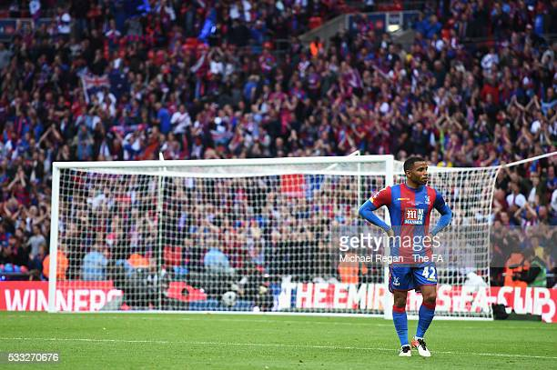 Jason Puncheon of Crystal Palace shows his dejection after The Emirates FA Cup Final match between Manchester United and Crystal Palace at Wembley...