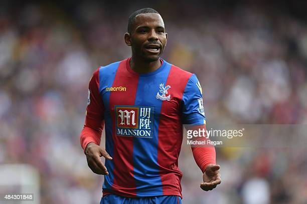 Jason Puncheon of Palace looks on during the Barclays Premier League match between Crystal Palace and Arsenal on August 16 2015 in London United...