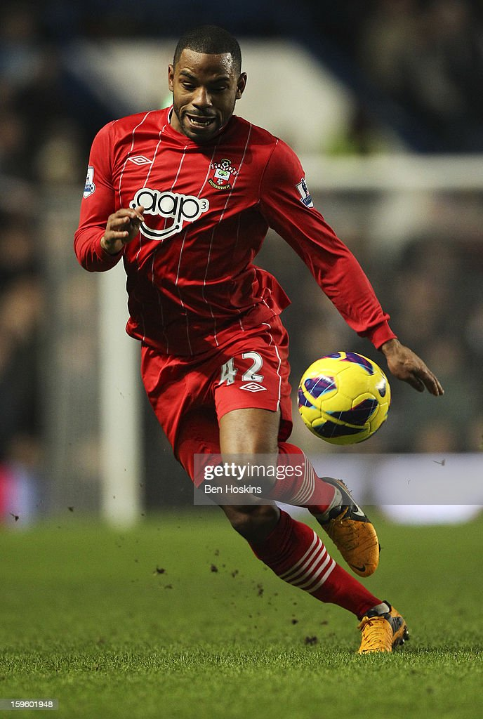 Jason Puncheon of Southampton in action during the Barclays Premier League match between Chelsea and Southampton at Stamford Bridge on January 16, 2013 in London, England.