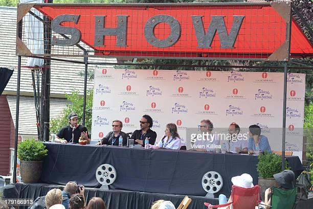 Jason Reitman Agnieszka Holland Alejandro Gonzalez Inarritu Annette Insdorf Alfonso Cuaron and Asghar Farhadi speak on a panel at the 2013 Telluride...