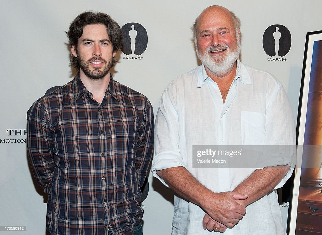 <a gi-track='captionPersonalityLinkClicked' href=/galleries/search?phrase=Jason+Reitman&family=editorial&specificpeople=627880 ng-click='$event.stopPropagation()'>Jason Reitman</a> and <a gi-track='captionPersonalityLinkClicked' href=/galleries/search?phrase=Rob+Reiner&family=editorial&specificpeople=208749 ng-click='$event.stopPropagation()'>Rob Reiner</a> attends the Academy Of Motion Picture Arts And Sciences' Presents 'The Princess Bride' With Live Commentary Onstage at AMPAS Samuel Goldwyn Theater on August 15, 2013 in Beverly Hills, California.