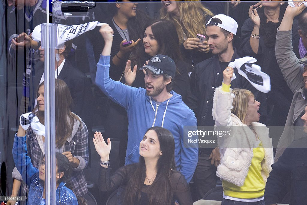 <a gi-track='captionPersonalityLinkClicked' href=/galleries/search?phrase=Jason+Reitman&family=editorial&specificpeople=627880 ng-click='$event.stopPropagation()'>Jason Reitman</a> attends an NHL playoff game between the Chicago Blackhawks and the Los Angeles Kings at Staples Center on June 4, 2013 in Los Angeles, California.