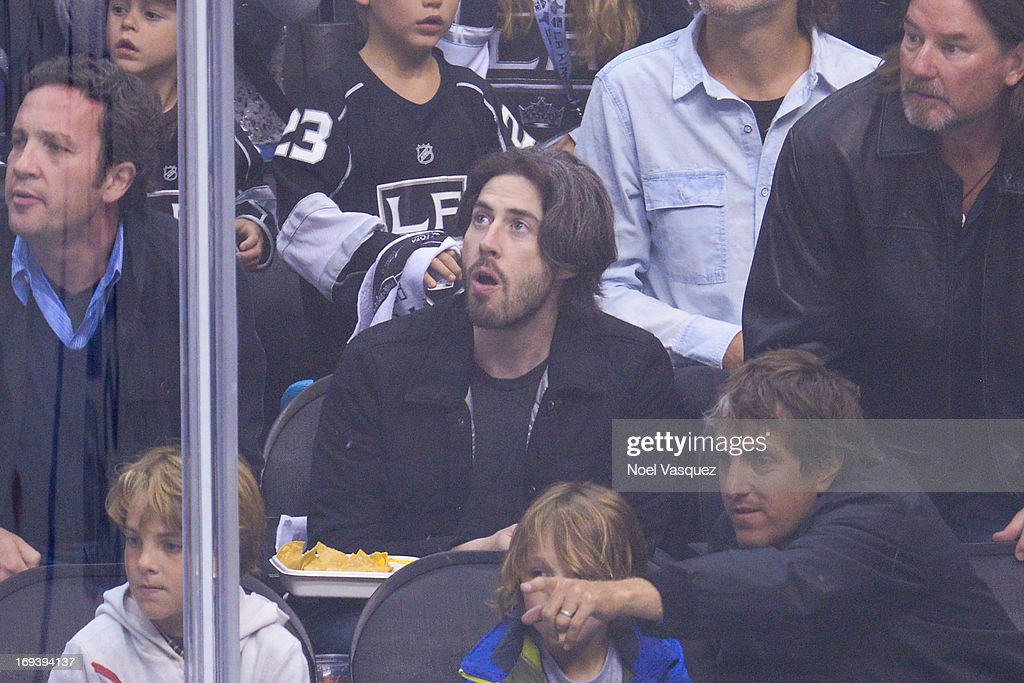 <a gi-track='captionPersonalityLinkClicked' href=/galleries/search?phrase=Jason+Reitman&family=editorial&specificpeople=627880 ng-click='$event.stopPropagation()'>Jason Reitman</a> attends an NHL playoff game between the San Jose Sharks and the Los Angeles Kings at Staples Center on May 23, 2013 in Los Angeles, California.
