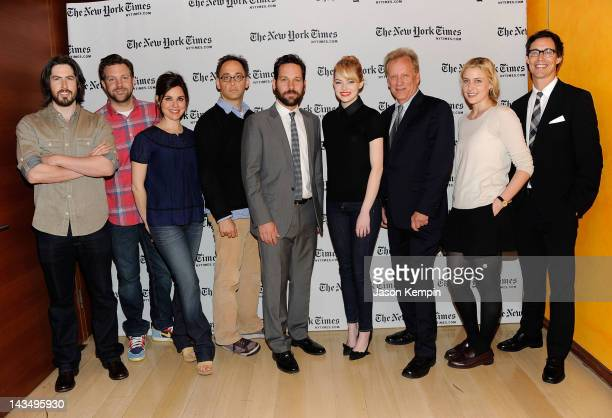 Jason Reitman Jason Sudeikis Cara Buono David Wain Paul Rudd Emma Stone James Woods Greta Gerwig and Tom Cavanagh attend the Film Independent New...