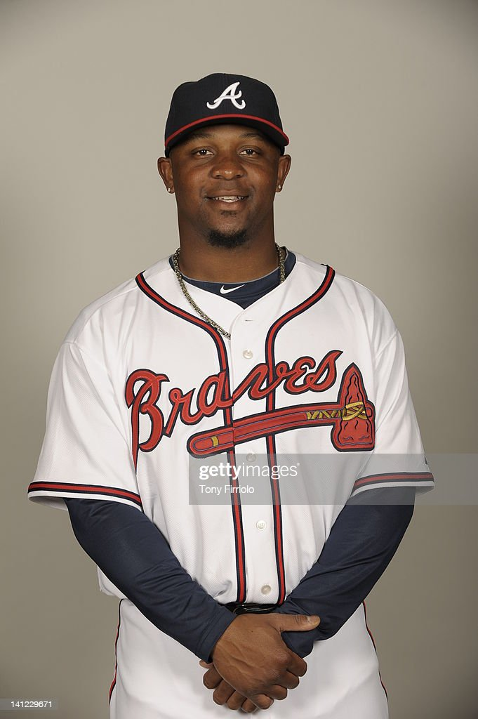 Jason Rice (72) of the Atlanta Braves poses during Photo Day on Wednesday, February 29, 2012 at Champion Stadium in Lake Buena Vista, Florida.