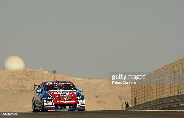 Jason Richards of Sprint Gas Racing drives his Holden during practice for the Desert 400 which is round 12 of the V8 Supercars Championship Series at...