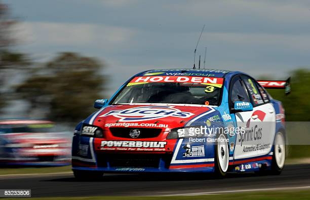 Jason Richards of Sprint Gas Racing drives his Holden during the Bathurst 1000 which is round 10 of the V8 Supercars Championship Series at the Mount...
