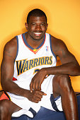 Jason Richardson of the Golden State Warriors poses for a portrait during the Warriors Media Day on October 3 2005 at the Warriors practice facility...