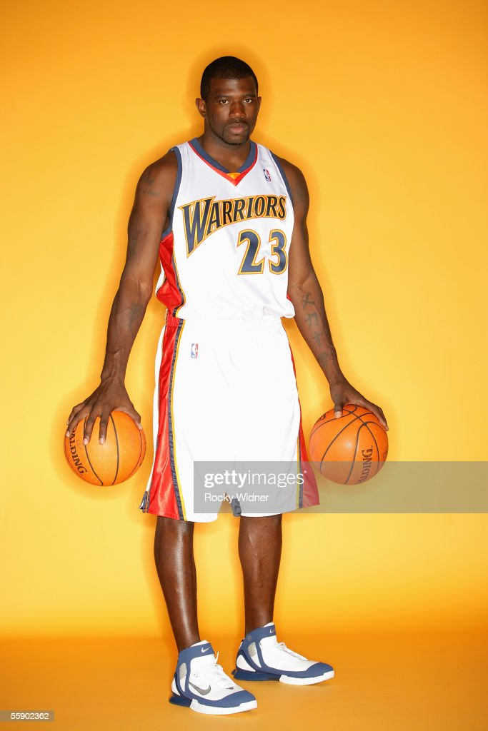 Jason Richardson #23 of the Golden State Warriors poses for a portrait during the Warriors Media Day on October 3, 2005 at the Warriors practice facility in Oakland, California.